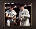 Baseball Collectibles:Photos, Ted Williams Signed Oversized Photograph - Pictured With Babe Ruth....