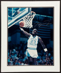 Basketball Collectibles:Photos, Michael Jordan Signed Oversized Photograph - UDA....
