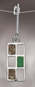 Lapidary Art:Boxes, METEORITE PENDANT . 10 x 22 x 4mm (0.33 x 0.75 x 0.2inches). ...