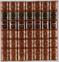 Books:Fine Bindings & Library Sets, Lord Mahon. History of England. Murray, 1858. Fifth edition.Bound in award binding. Some wear to bindings, owne... (Total: 7Items)