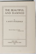 Books:Literature 1900-up, F. Scott Fitzgerald. The Beautiful and Damned. Scribner's,1922. First edition, first printing. Binding rubbed a...