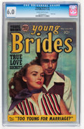 Golden Age (1938-1955):Romance, Young Brides #5 (Prize, 1953) CGC FN 6.0 Slightly brittle pages....