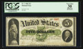 Large Size:Demand Notes, Fr. 1 $5 1861 Demand Note PCGS Apparent Very Fine 30.. ...