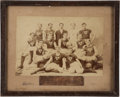 Basketball Collectibles:Photos, Circa 1898-99 Germantown (PA) YMCA Basketball Team Imperial CabinetPhotograph....