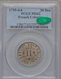 Colonials, 1710-AA 30DEN French Colonies 30 Deniers MS62 PCGS. CAC. Breen-282,Vlack-8, R.2....