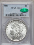 Morgan Dollars: , 1887 $1 MS66 PCGS. CAC. PCGS Population (1371/71). NGC Census: (3655/312). Mintage: 20,290,710. Numismedia Wsl. Price for p...