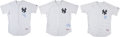 Baseball Collectibles:Uniforms, 2012 New York Yankees Old Timers Game Worn Jerseys Lot of 3....