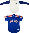 Baseball Collectibles:Uniforms, 1980's Dwight Gooden & Lenny Dykstra Game Worn New York MetsShirts....