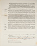 Autographs:Others, 1952 Satchel Paige St. Louis Browns Contract, Unsigned....