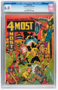 4Most #2 (Novelty Press, 1942) CGC FN 6.0 Off-white to white pages