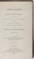 Books:Americana & American History, B. F. French [editor]. Historical Collections of Louisiana.Part II. Daniels and Smith, 1850. Second edition. Co...