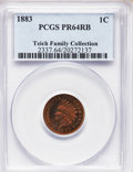 Proof Indian Cents, 1883 1C PR64 Red and Brown PCGS. Ex: Teich Family Collection. PCGSPopulation (218/141). NGC Census: (158/298). Mintage: 6...