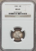 Barber Dimes: , 1900 10C MS65 NGC. NGC Census: (33/12). PCGS Population (20/12).Mintage: 17,600,912. Numismedia Wsl. Price for problem fre...