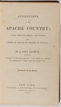 Books:Americana & American History, J. Ross Browne. Adventures in the Apache Country. Harper& Brothers, 1869. First edition, first printing. Publisher'...