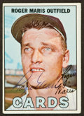 Baseball Cards:Autographs, 1967 Topps Roger Maris Signed Card....