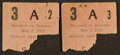 Baseball Collectibles:Tickets, 1912 Harvard Vs. Bowdoin Baseball Ticket Stubs Lot of 2....