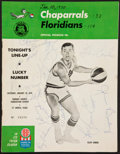 Basketball Collectibles:Programs, 1967-73 Dallas Chaparrals Signed and Unsigned ABA Programs Lot of8....