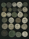 Ancient Lots: , Ancient Lots: Lot of twenty-seven miscellaneous Roman coins,Flavian period to the family of Constantine. Includes: Vespasian.Denarius (3... (Total: 27 coins Item)