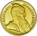 Albania: , Albania: Republic gold 20 Franga Ari 1926R, KM12, choice brilliant UNC, a handsome example of this early coinage under President Zog....