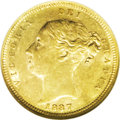 Australia: , Australia: Victoria gold 1/2 Sovereign 1887-S, KM5, AU53 NGCReserve Bank of Australia, an extremely well-struck coin withabundant min...