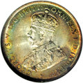 Australia: , Australia: George V Florin 1917M, KM27, MS63 NGC, an attractive coin with lovely gold and russet toning over fully lustrous surfaces. T...