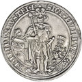 Austria: , Austria: Archduke Sigismund of Tyrol Guldiner 1486, Davenport 8087,inner border added and smaller date, superb toned VF-XF,meticulo...