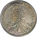 Austria: , Austria: Charles VI 1/2 Taler ND (1711-40) Hall, KM689, AU58 PCGS,a lovely coin with extremely sharp details and appealing old-time...