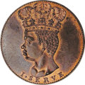 Barbados: , Barbados: British Colonial Halfpenny 1792, KM-Tn9, Proof restrike,a lovely example struck on a thick planchet with abundant mintlust...