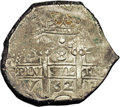 Bolivia: , Bolivia: Carlos II cob 8 Reales 1682P-V, KM26, VF with bold date, mint and assayer on the obverse....