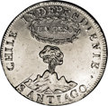 Chile: , Chile: Republic Volcano Peso 1817-FJ, KM82.2, variety with Y to theleft of the column, lustrous AU, cleaned at one time and with a...