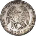 Chile: , Chile: Republic 8 Reales 1839-IJ, KM96.1, lovely toned XF-AU, fullyoriginal patina with gold and gray highlights, some small scrat...