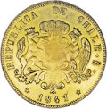 Chile: , Chile: Republic gold 8 Escudos 1841-IJ, KM104.1, VF-XF with sometraces of luster, lightly cleaned long ago and somewhat weaklystr...