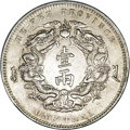 China: , China: Hupeh. Tael Year 30 (1904), KM-Y128.2, lustrous AU with very light toning, one tiny rim bump. Scarce type and grade....