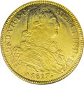Colombia: , Colombia: Ferdinand VII gold 8 Escudos 1817-JF NR, KM66.1, AU50ANACS, a nice lustrous example with evenly struck details and nodistr...