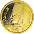 Egypt: , Egypt: Farouk gold 500 Piastres 1938, KM373, superb Proof, anincredible example of this extremely popular type with mirrorsurface...