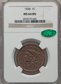 Large Cents: , 1838 1C MS64 Brown NGC. CAC. NGC Census: (109/103). PCGS Population(90/43). Mintage: 6,370,200. Numismedia Wsl. Price for ...