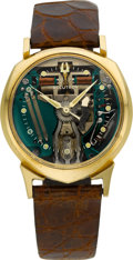 "Timepieces:Wristwatch, Bulova 14k Gold ""Alpha"" 214 Spaceview. ..."