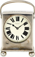 Timepieces:Clocks, Tiffany & Co. Miniature Sterling Clock. ...