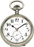 Timepieces:Pocket (post 1900), Tiffany & Co. Oversize Eight Day Pocket Watch. ...