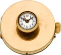 Timepieces:Pocket (post 1900), Swiss Gold Button Hole Watch. ...