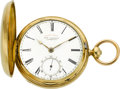 "Timepieces:Pocket (pre 1900) , Joseph Johnson ""Quick Beat"" Large Gold Lever Fusee, circa 1850. ..."