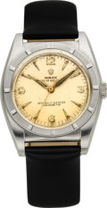 Timepieces:Wristwatch, Rolex Ref. 4919 Steel Bubble Back, circa 1947. ...