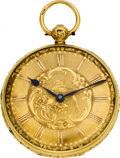 Timepieces:Pocket (pre 1900) , Joseph Penlington Liverpool Gold Lever Fusee. ...