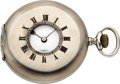 Timepieces:Pocket (post 1900), Swiss 47 mm Sterling Silver Demi-Hunter. ...
