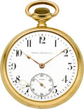 Timepieces:Pocket (post 1900), Vacheron & Constantin 18k Gold Watch For Bigelow Kennard &Co., circa 1912. ...