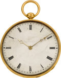 Timepieces:Pocket (pre 1900) , Comminges Palais Royal No. 62 Gold Cylinder Key Wind. ...