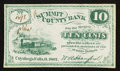 Obsoletes By State:Ohio, Cuyahoga Falls, OH- A. Hanford Payable at Summit County Bank 10¢1862. ...