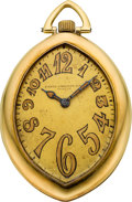 Timepieces:Pocket (post 1900), Patek Philippe & Cie Rare & Unusual Navette Shaped PocketWatch, circa 1905. ...