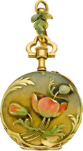 Timepieces:Pocket (post 1900), Henry Capt Miniature Art Nouveau Enamel, circa 1910. ...
