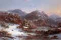 Fine Art - Painting, American, RÉGIS FRANÇOIS GIGNOUX (French/American, 1816-1882). Winter inthe Mountains (Winter in the Adirondacks), 1853. Oil on c...